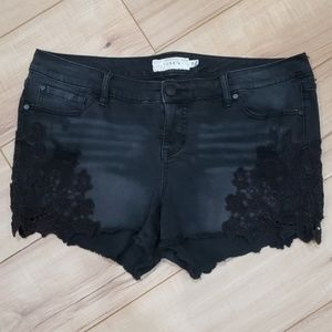 Torrid Shorts with Crochet Detail